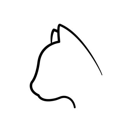 trusting: cat head love pet animal icon. Isolated and flat illustration. Vector graphic