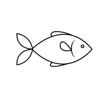 fish sea marine animal icon. Isolated and flat illustration. Vector graphic