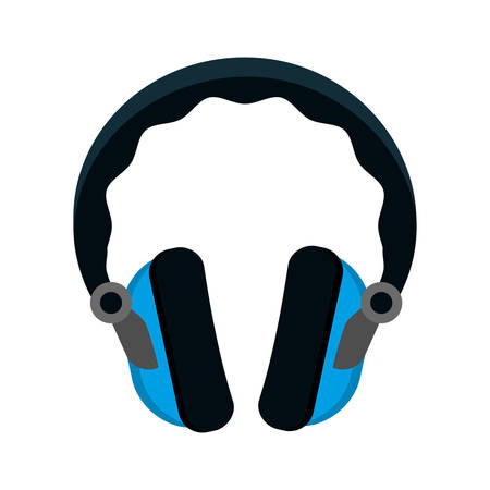 headphone music sound device icon. Isolated and flat illustration. Vector graphic Illustration