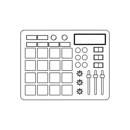 graphic equalizer: equalizer music sound melody icon. Isolated and flat illustration. Vector graphic