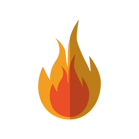 wildfire: flame fire orange hot icon. Isolated and flat illustration. Vector graphic