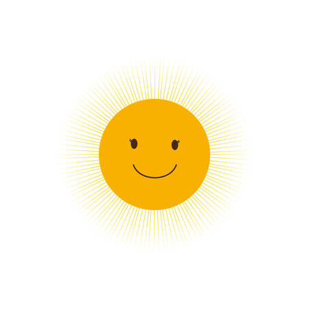 sunny sun abstract sunshine icon. Isolated and flat illustration. Vector graphic