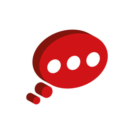 bubble communication message speak icon. Isolated and flat illustration. Vector graphic Illustration
