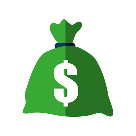 icône de commerce de sac d'argent élément financier. Illustration isolée et plate Graphique de vecteur