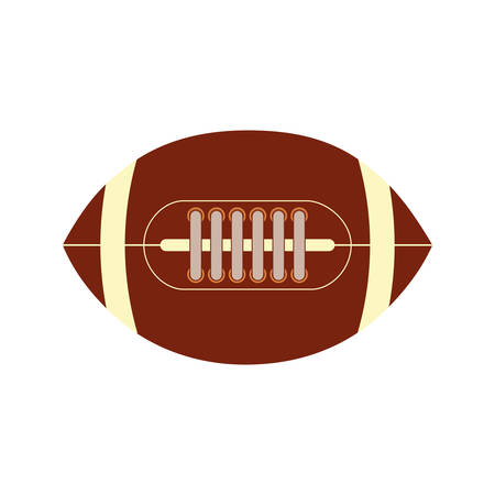 football ball: american football ball sport game icon. Isolated and flat illustration. Vector graphic