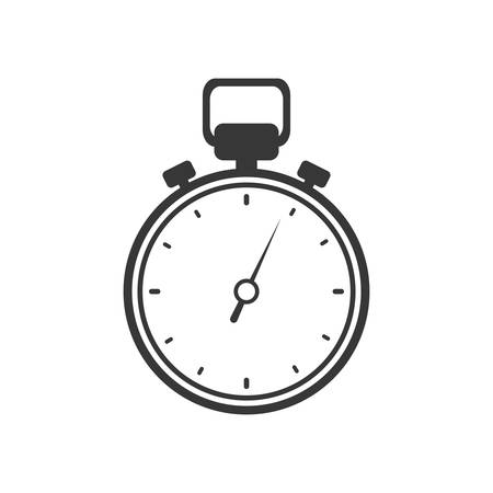 chronometer: chronometer time silhouette white icon. Isolated and flat illustration. Vector graphic
