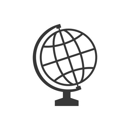 interacting: global sphere supply instrument school education icon. Isolated and flat illustration. Vector graphic