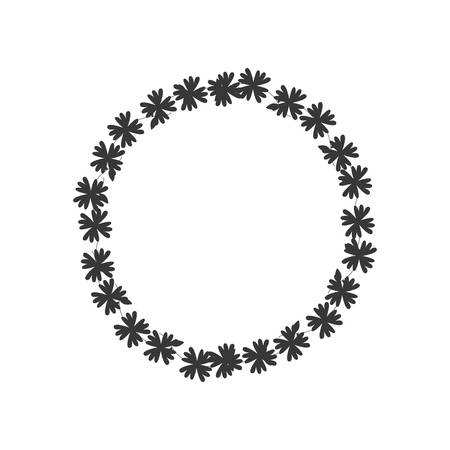 fleur couronne couronne décoration de jardin icône floral. Isolé et plat illustration. Vecteur graphique