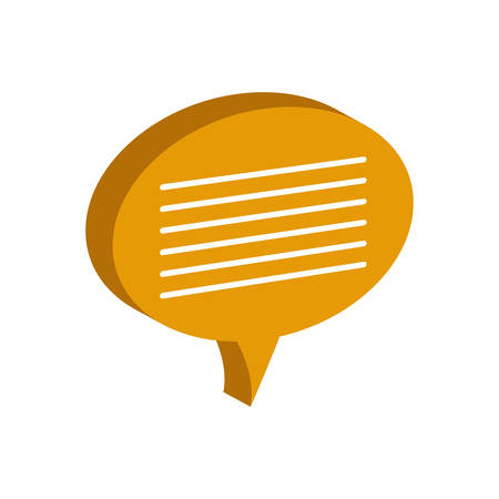 speak icon: bubble communication message speak icon. Isolated and flat illustration. Vector graphic Illustration