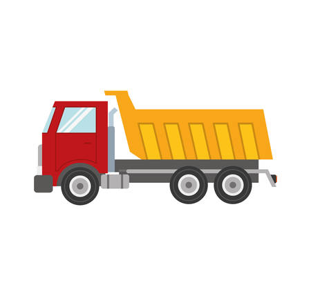 commerce and industry: dump truck transportation delivery icon. Isolated and flat illustration. Vector graphic