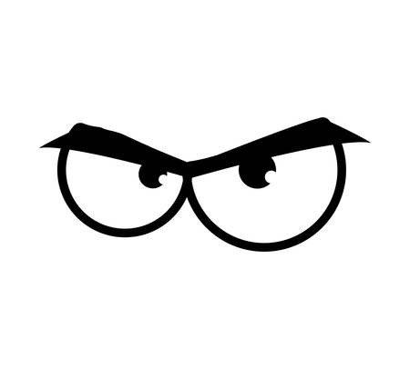 angry look: eye angry look vision optical  icon. Isolated and flat illustration. Vector graphic