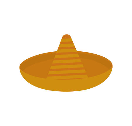 accesory: hat accesory mexican culture icon. Isolated and flat illustration. Vector graphic