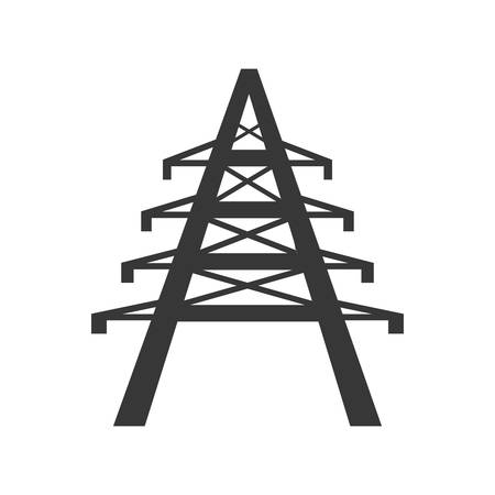 alkaline: tower power energy technology icon. Isolated and flat illustration. Vector graphic