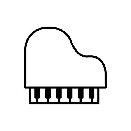 melody: piano music melody sound icon. Isolated and flat illustration. Vector graphic
