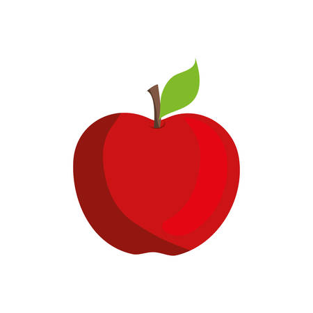 market gardening: apple fruit healthy food icon. Isolated and flat illustration. Vector graphic Illustration