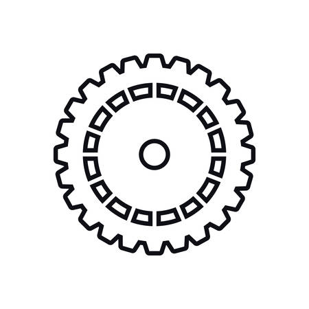 machine part: cog gear machine part technology icon. Isolated and flat illustration. Vector graphic