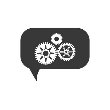 machine part: cog gear bubble machine part technology icon. Isolated and flat illustration. Vector graphic Illustration