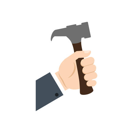 hand tool: hammer hand tool construction repair icon. Isolated and flat illustration. Vector graphic