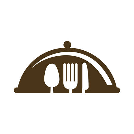 flatwares: fork knife spoon cutlery product food silhouette icon. Isolated and flat illustration. Vector graphic