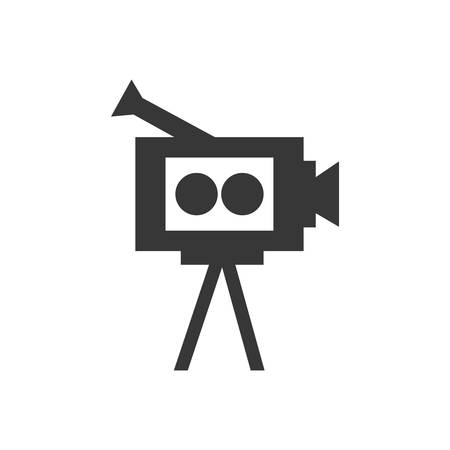 videocamera: videocamera film movie cinema icon. Isolated and flat illustration. Vector graphic