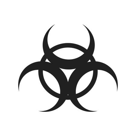 biohazard industry plant silhouette icon. Isolated and flat illustration. Vector graphic