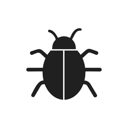 parasitic infestation: bug insect infection parasite icon. Isolated and flat illustration. Vector graphic Illustration