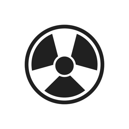 dangerous construction: biohazard industry plant silhouette icon. Isolated and flat illustration. Vector graphic
