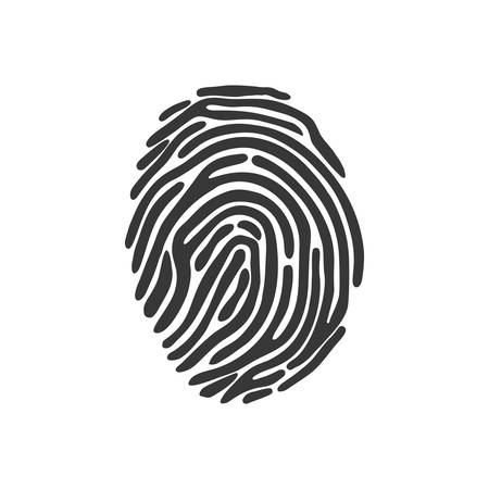 fatal: fingerprint security system protection icon. Isolated and flat illustration. Vector graphic Illustration