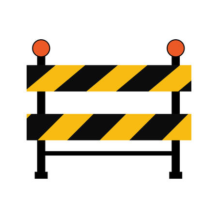 vector sign under construction: road sign under construction repair icon. Isolated and flat illustration. Vector graphic