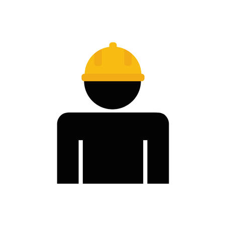 in the reconstruction: constructer pictogram under construction repair icon. Isolated and flat illustration. Vector graphic