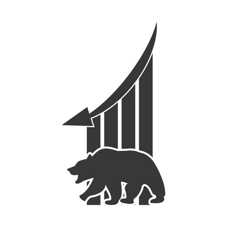 profitability: bear infographic profit financial icon. Isolated and flat illustration. Vector graphic Illustration