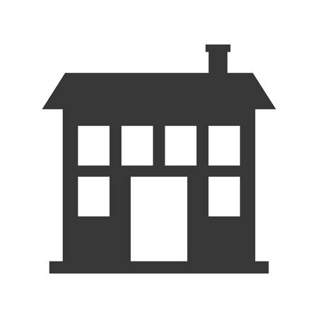 residential neighborhood: home house silhouette real estate icon. Isolated and flat illustration. Vector graphic
