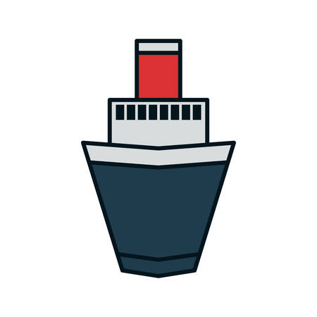 commerce and industry: ship transportation vehicle travel icon. Isolated and flat illustration. Vector graphic Illustration
