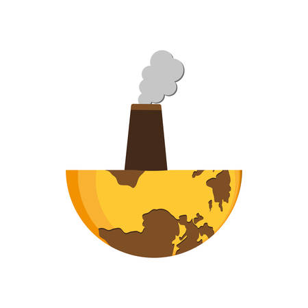 save planet industry earth ecology icon. Isolated and flat illustration. Vector graphic