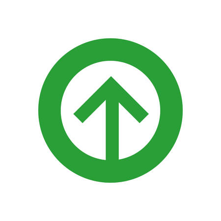 arrow button direction infographic symbol icon. Isolated and flat illustration. Vector graphic