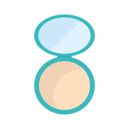 beautification: powder make up style product icon. Isolated and flat illustration. Vector graphic Illustration