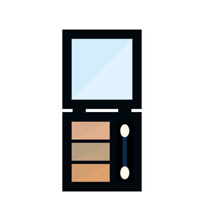 beautification: eye shadows make up style product icon. Isolated and flat illustration. Vector graphic