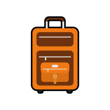 luggage bag: baggage luggage bag travel trip icon. Isolated and flat illustration. Vector graphic