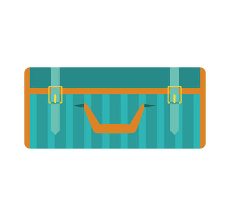 luggage bag: suitcase baggage luggage bag travel trip icon. Isolated and flat illustration. Vector graphic Illustration