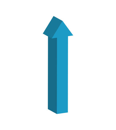 orientation marker: arrow blue direction infographic symbol icon. Isolated and flat illustration. Vector graphic