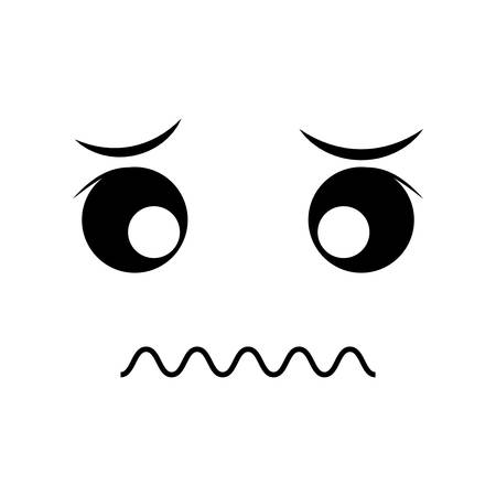 emotion expression: sad face cartoon expression emotion icon. Isolated and flat illustration. Vector graphic