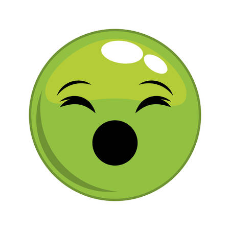 scream: scream sphere face cartoon expression emotion icon. Isolated and flat illustration. Vector graphic