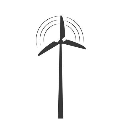wind mill: wind mill ecology save renewable icon. Isolated and flat illustration. Vector graphic