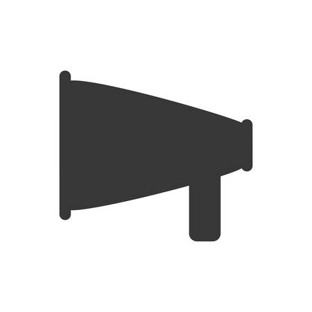 proclaim: megaphone amplifer communication speaker icon. Isolated and flat illustration. Vector graphic