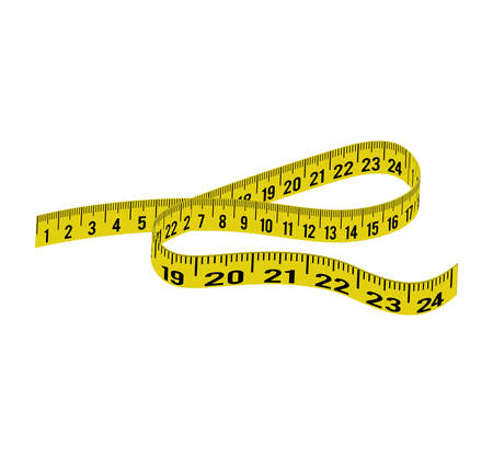 meter yellow tape measure tool icon. Isolated and flat illustration. Vector graphic Illustration
