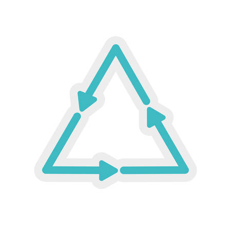 digital indicator: arrow triangle direction infographic symbol icon. Isolated and flat illustration. Vector graphic
