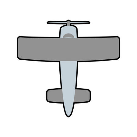 airplane grey travel transporation flying icon isolated and