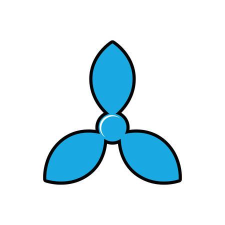 turbine boat sea lifestyle nautical marine icon. Isolated and flat illustration. Vector graphic