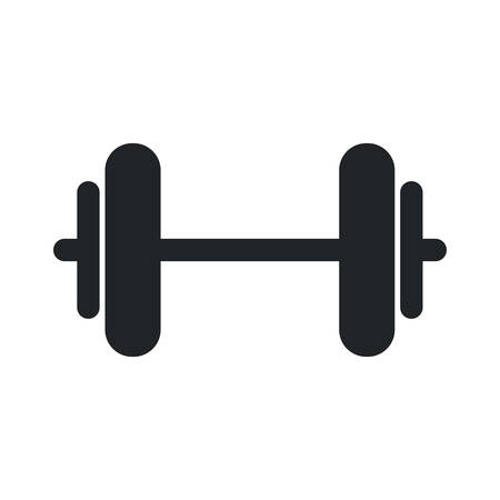heavy weight: weight metal heavy bodybuilding icon. Isolated and flat illustration. Vector graphic Illustration