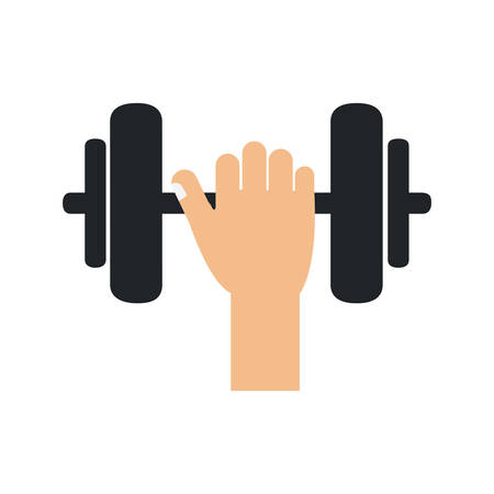 heavy weight: weight metal hand heavy bodybuilding icon. Isolated and flat illustration. Vector graphic